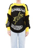 Calvin Klein Long-sleeved T-shirt With Print - BLACK YELLOW (Black)