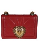 Dolce & Gabbana Quilted Mini Shoulder Bag - red