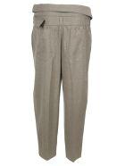 Stella McCartney Belted Cropped Pants - Grigio