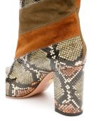 Aquazzura Boetti 85 Boots - GREEN CINNAMON DK MOSS GREEN (Brown)