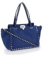 Valentino Garavani Small Tote Bag - Blu delft