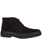 Tod's  Suede Desert Boots Lace Up Ankle Boots - Black