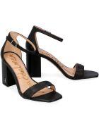 Sam Edelman Daniella Heeled Leather Sandals - black