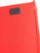Be Blumarine Pants Flared Cady W/side Zip - Rosso