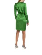 Alexandre Vauthier Draped Silk-blend Mini Dress - Verde