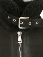 DROMe Drm Leather Shearling Jacket - Black