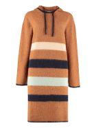 Lanvin Hooded Sweater Dress - brown