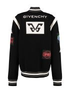 Givenchy Knitted Bomber Jacket - black