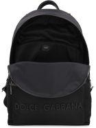 Dolce & Gabbana Nylon Backpack With Logo - black