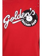 Golden Goose Marfa T-shirt In Red Cotton - red