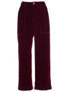 Jejia Pants Velvet Silk - Rosso