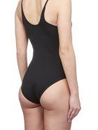 Adidas Originals Logo Print Swimsuit - Nero bianco