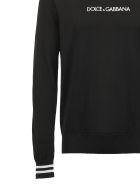 Dolce & Gabbana Contrast Logo Jumper - Nero bianco