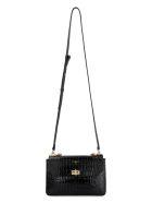 Givenchy Crocodile Effect Leather Bag - black