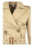 Burberry Islington Leather D-ring Detail Cotton Gabardine Trench Coat - Honey