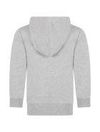 Balmain Grey Sweatshirt For Kids With Logo - Grigio