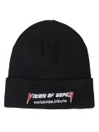 Vision of Super Logo Knit Beanie - Black