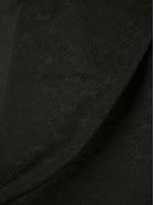 Saint Laurent Grand Carre Monogram Scarf - Black
