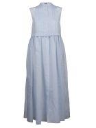 Jil Sander Navy Pleated Dress - Basic