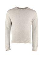 R13 Cotton Crew-neck Sweatshirt - grey
