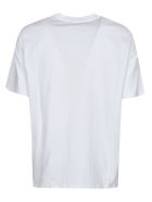 MSGM Chest Box Logo Print T-shirt - Bianca