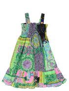 Young Versace 'barocco' Dress - Multicolor