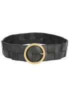 Bottega Veneta Belt - Nero/nero-gold