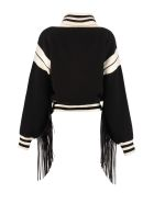 Alanui Cropped-length Knitted Cardigan - black