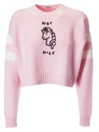 Miu Miu Not Nice Embroidered Sweater - Petalo