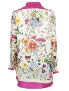 Gucci Floral Print Shirt - Bright Fuxia