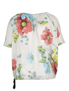 SEMICOUTURE Floral Print Blouse - Camp