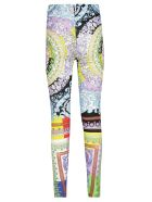 Versace Floral Pattern Print Leggings - Basic