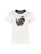 Lanvin Printed Cotton T-shirt - White