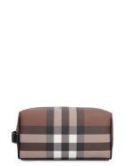 Burberry E-canvas Beauty Case - brown