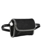 Stella McCartney Falabella Flap Belt Bag - BLACK