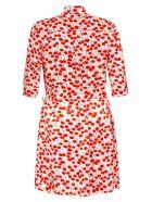 Victoria Victoria Beckham Cherry Print Shirt Dress - Cherries, White