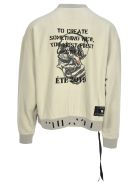 Ben Taverniti Unravel Project Unravel Fleece Round Neck Skull Back - Beige