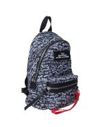 Marc Jacobs Backpack In Nylon Color Black With Contrast Print - black multicolor