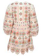 Zimmermann The Brighton Plunge Dress - MULTI ORANGE