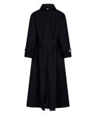 Thom Browne Flared Trench Coat - Navy