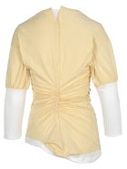 Marni Marni Two-tone Layered T-shirt - ANTIQUE WHITE + LILLY WHITE