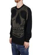 Alexander McQueen Black Wool Blend Jumper - Black/gold