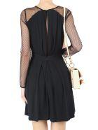 Bcbg Max Azria Tulle And Stretch-jersey Mini Dress - Black