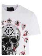 Philipp Plein 'stars & Skull' T-shirt - WHITE