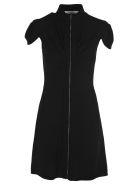 Givenchy Givenchy Front Zipped Mini Dress - BLACK