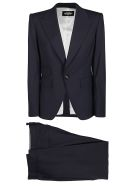 Dsquared2 Dark Blue Virgin Wool Suit - Black