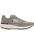 Atlantic Stars Mira Techno-fabric And Leather Sneakers - green