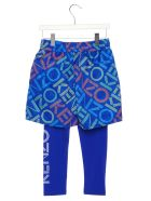 Kenzo Kids 'activewear' Leggings - Blue