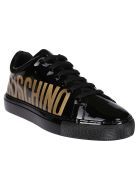 Moschino Black Leather Sneakers - Black