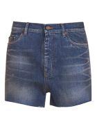 Saint Laurent High Waisted Denim Shorts - BLU